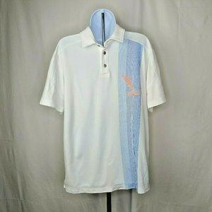 Tommy Bahama Mens White Polo Shirt Size Medium